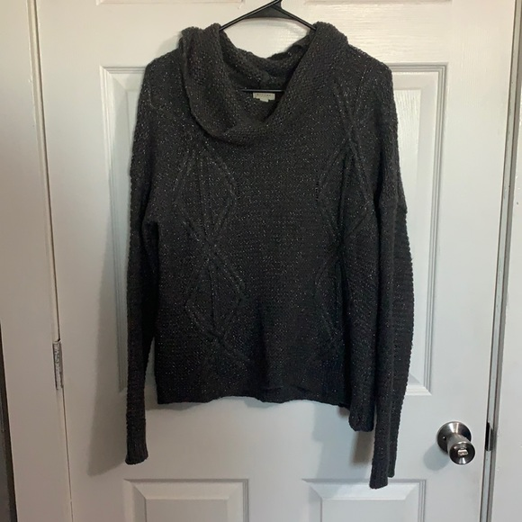 Sonoma Gray Swoop Neck Sweater. Size Large